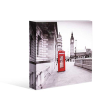 Kelly Lane Cosmopolitan London Tower Red Phone Box Canvas 20cm Artiefartie Free Stand or Hang Brand New