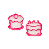 Lunch Punch Birthday Cupccake Cake Puzzle Shape Bread Sandwich 2 Cutters Kids Children Food