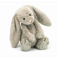 Jellycat London Bashful Bunny Rabbit Beige Medium Soft Plush Toy 31cm