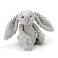 Jellycat London Bashful Silver Grey Bunny Medium Soft Plush Toy 31cm