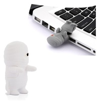 Quality Bone Collection Mummy Driver Flash Drive 4G USB 2.0 White