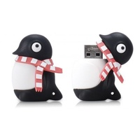 Quality Bone Collection Penguin Driver Flash Drive 4G USB 2.0 Black with pink