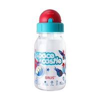 BROS 350ml Water Bottle Straw Crystal Plus Space Castle NEW