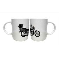 Vehicle Cup Mug Motorbike Black Biker NEW