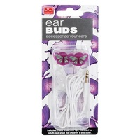 DCI Ear Buds Headphones - Butterfly NEW