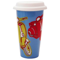 Porcelain Eco Mug eCup Double Insulated Scooter Blue