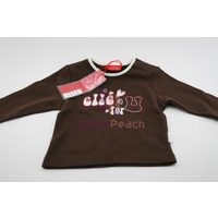 Elle Baby For You Top Choco BNIT Size 00 6 Months 100% Cotton