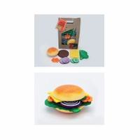 Koala Dreams Wooden Wood Felt Create Your Own Hamburger Pretend Play Kitchen New