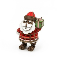 ki-gu-mi Plywood Puzzle Christmas Santa Claus Colored Jigzle Wooden Art 3D Wooden Puzzle NEW