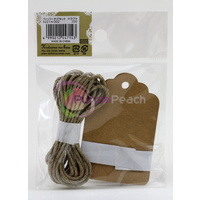 Japanese Brown Paper Tag Set by Kodomo No Kao Scrapbooking