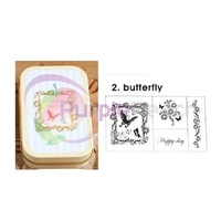Japanese Petit Musee Stamp Set Butterfly by Kodomo No Kao