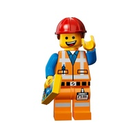 LEGO Movie Minifigure 71004 no. 3 Hard Hat Emmet New in Opened Packaging
