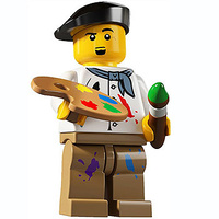 Lego 8804 Minifigure Series 4 No 14 Artist New in Opened Packaging