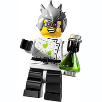 Lego 8804 Minifigure Series 4 No 16 Crazy Scientist New in Opened Packaging