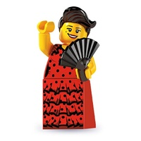 Lego 8827 Series 6 Minifigures No 6 Flamenco Dancer New in Opened Package