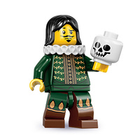 Lego 8833 Series 8 Minifigures No 14 The Thespian with a skull New