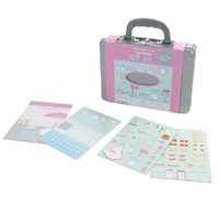 Miniamo Magnetic Kitchen Story Set Pink Kids Preschool