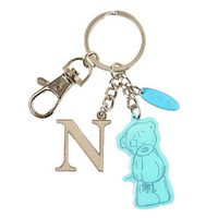 Me To You Tatty Teddy Bear Letter N Keyring with Charms by Carte Blanche