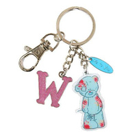 Me To You Tatty Teddy Bear Letter W Keyring with Charms by Carte Blanche