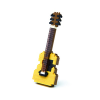 Nanoblock Mini Musicals by Kawada Japan Acoustic Guitar NEW in Packaging NBC096
