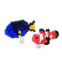 Nanoblock Mini Critters Series Clownfish and Palette Surgeonfish by Kawada NBC 118 NEW