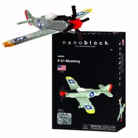 Nanoblock Mini Challenger Series by Kawada Japan  p 51 Mustang NBM 005