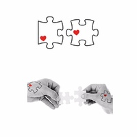 New Potatoo Temporary Tattoo COUPLE PUZZLE