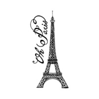 New Potatoo Temporary Tattoo Eiffel Tower Oh Paris