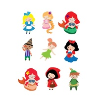 Potatoo Premier Temporary Tattoo Kids Fairtale Disney Set