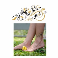 New Potatoo Temporary Tattoo GOLDEN FLEUR