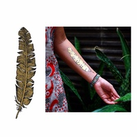 New Potatoo Temporary Tattoo GOLDEN FEATHER