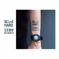 Potatoo Temporary Tattoo Hard Worker Writting New