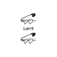 New Potatoo Temporary Tattoo  LOVE PINS