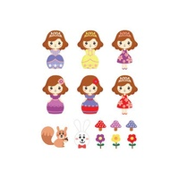 Potatoo Premier Temporary Tattoo Princess Kids Set