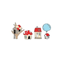 New Potatoo Temporary Tattoo Red Roof Mushroom