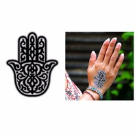 New Potatoo Temporary Tattoo Silver Hamsa Hand