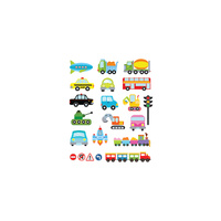 Potatoo Premier Temporary Tattoo SET PUBLIC TRANSPORTATION Kids