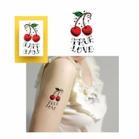 Potatoo Temporary Tattoo TRUE LOVE Cherry New