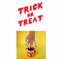 New Potatoo Temporary Tattoo TRICK OR TREAT Glow in the dark tattoo
