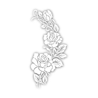 New Potatoo Temporary Tattoo WHITE AUREL FLOWERY