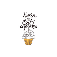 New Potatoo Temporary Tattoo BORN TO EAT CUPCAKES