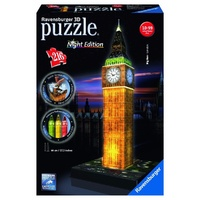 Ravensburger 3D Puzzle with Lights Big Ben at Night RB12588-3 216 Piece New