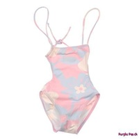 River Woods Flower Petal Onepiece Swimsuit Pink Blue NEW