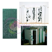 See Oh Ribbon Bookmark Dark Green Leaf deep forest Made in Japan
