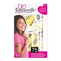 Style Me Up Tattoorific Metallic Temporary Tattoos