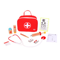 Tooky Toy Little Doctor Play Set in Red Carry Case Brand New