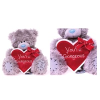 "Teddy Me to You Holding You're Gorgeous Heart 15cm 6"" NEW"