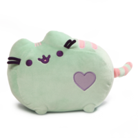 Pusheen Pastel Mint Green Heart Cat Plush 30 cm Licensed by Gund Pusheen the Cat