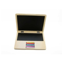 Kaper Kidz Wooden Notebook Laptop Blackboard Brand New