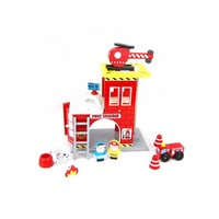 Fire Station Playset Play Set Toyland